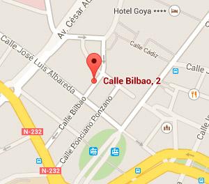 Ubicación de nuestro despacho en Zaragoza