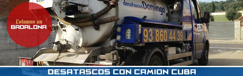 Desatascos en Badalona con Camión Cuba